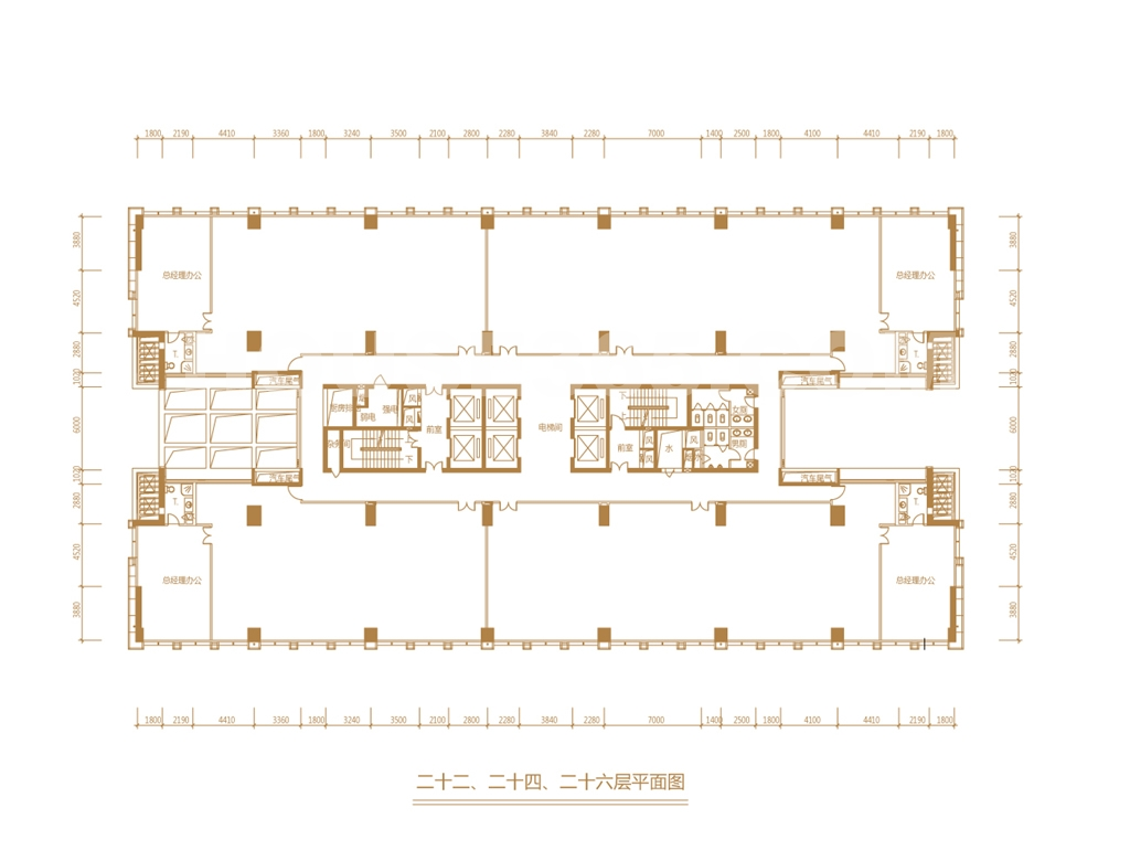 银丰央座户型图