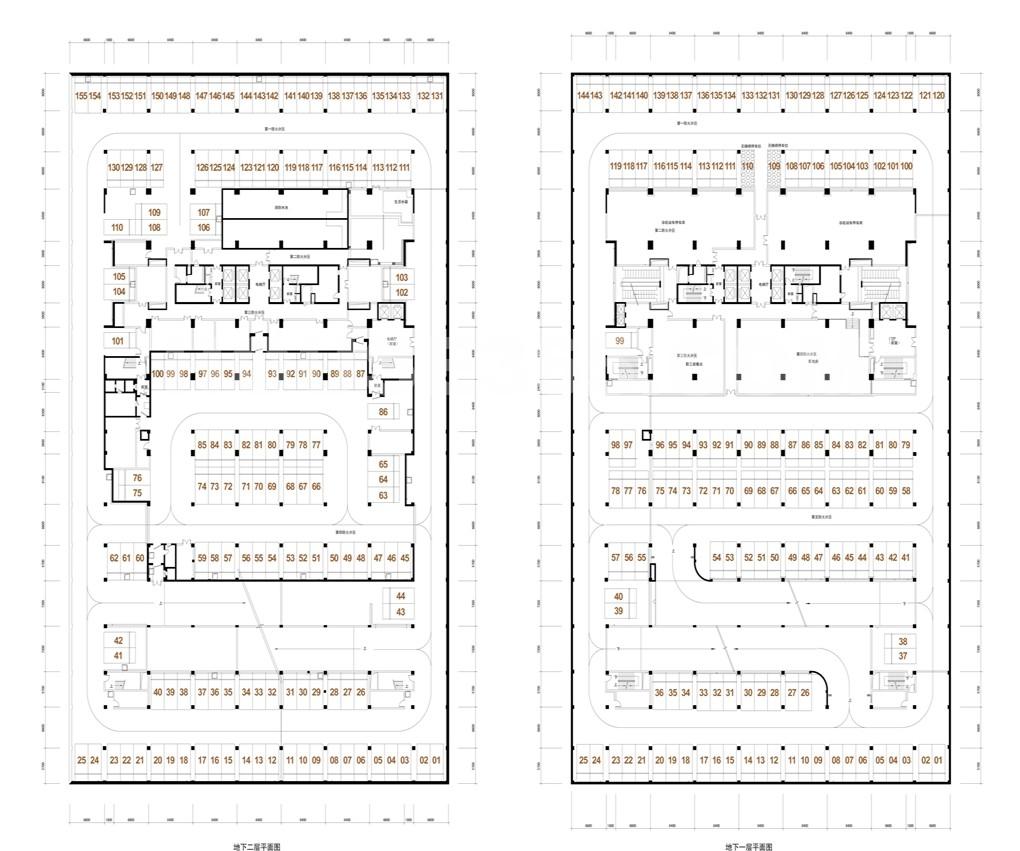 银丰央座 地下室车位分布图