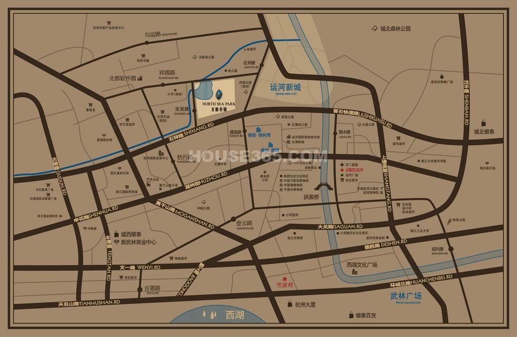 德信北海公园交通图