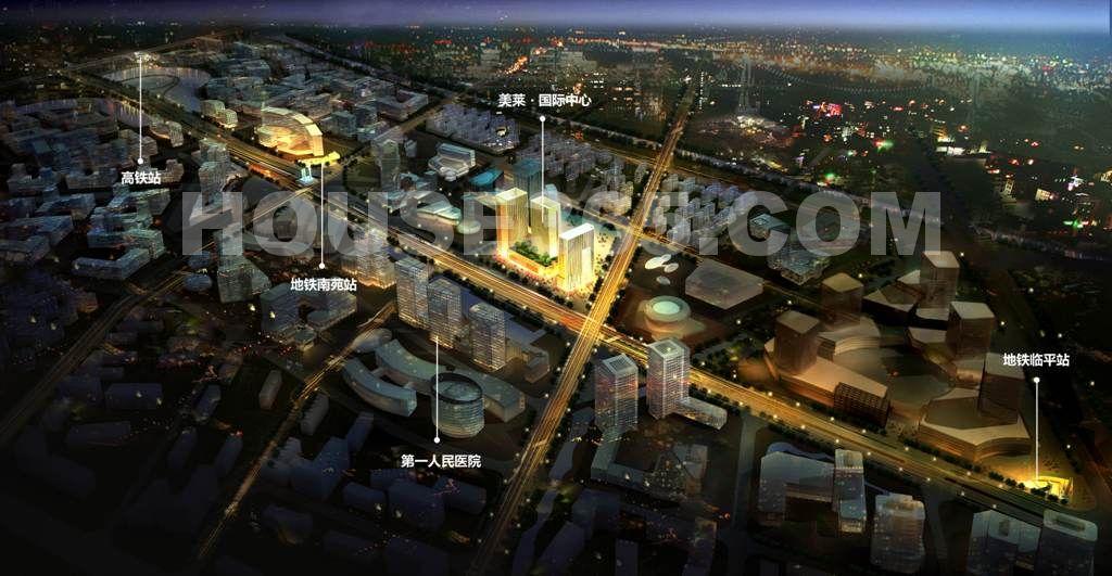 美莱国际中心鸟瞰图
