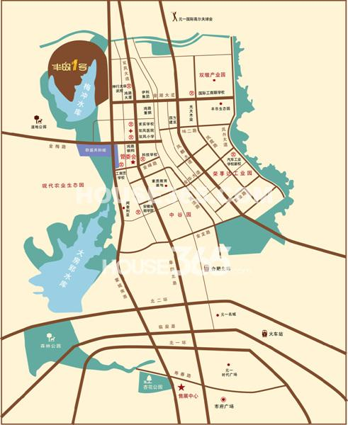 半岛1号区位图