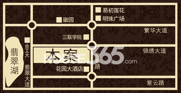 锦绣大地城交通图