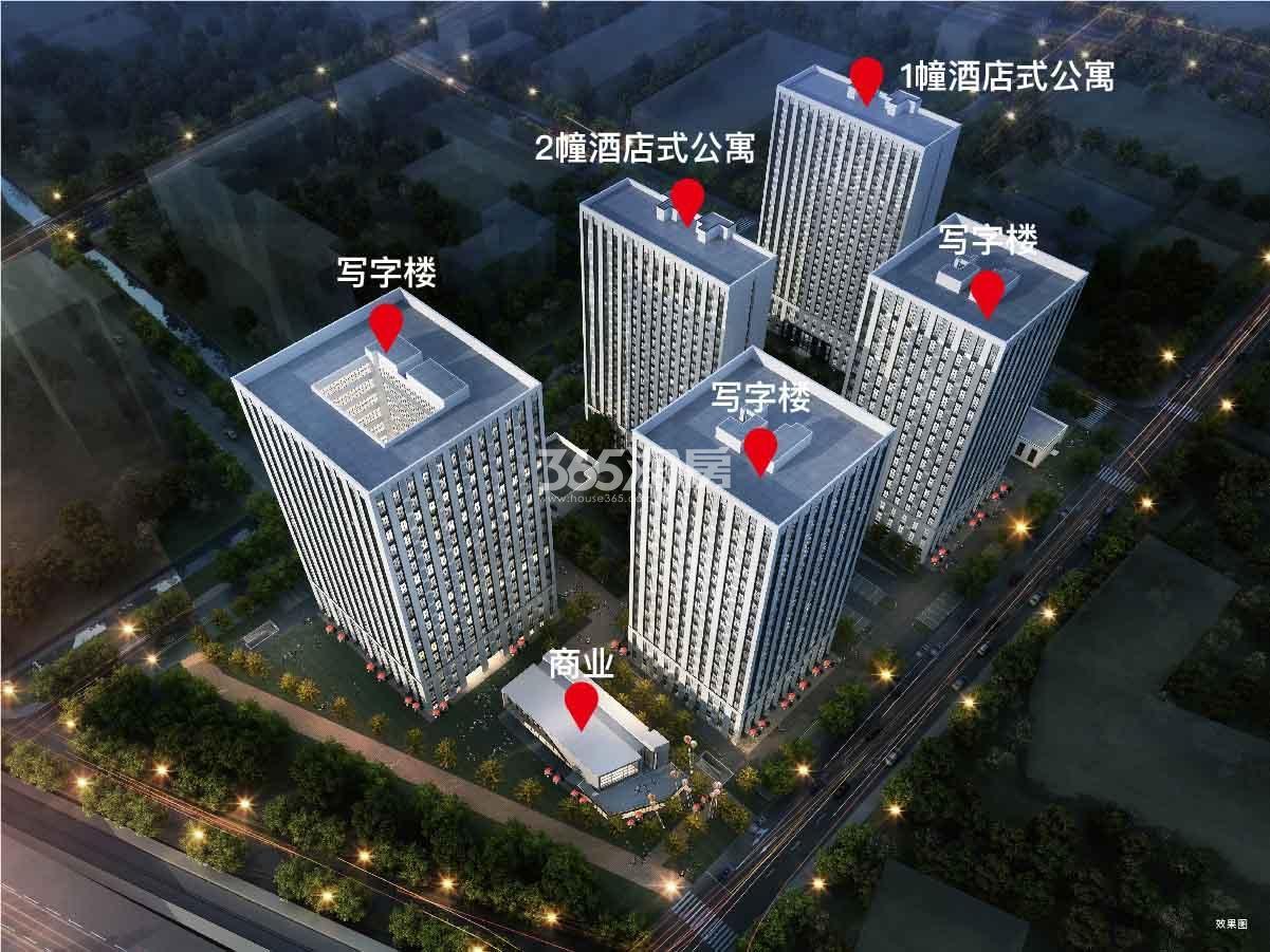 中海龙湾U-LIVE公寓鸟瞰图