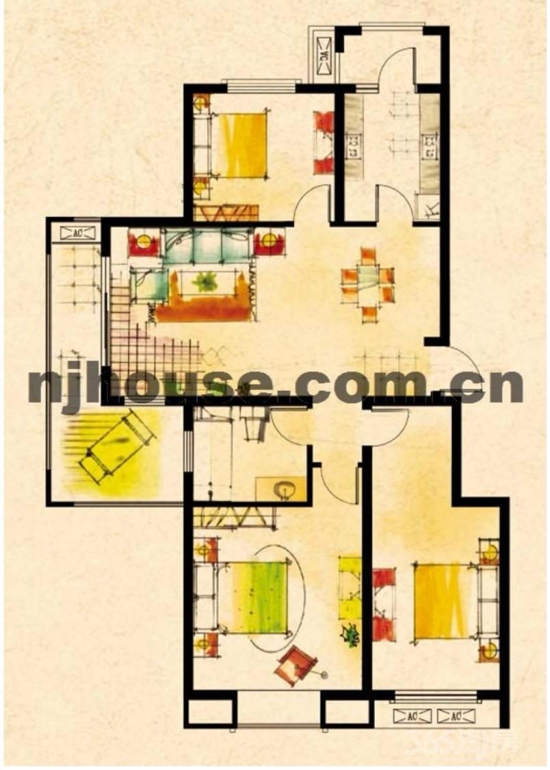 天华硅谷3室2厅1卫115平方米228万元