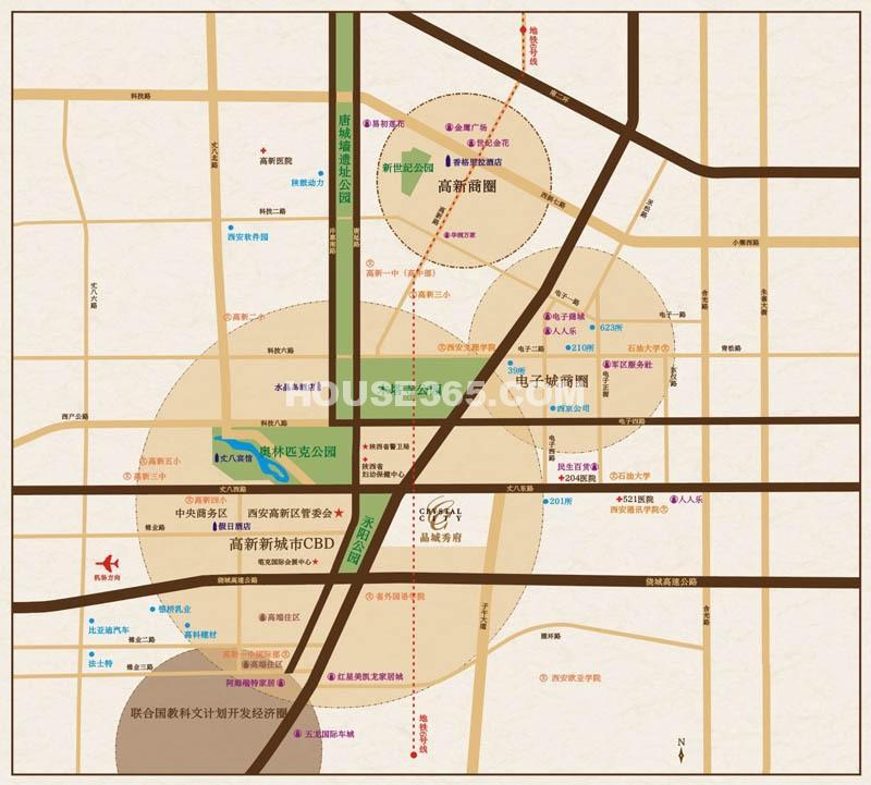 晶城秀府区位图