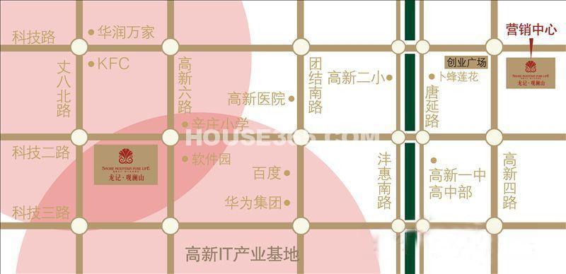 龙记观澜国际交通图