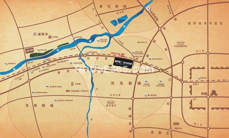 国润城交通图