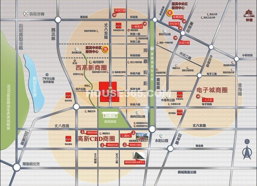 国宾中央区交通图