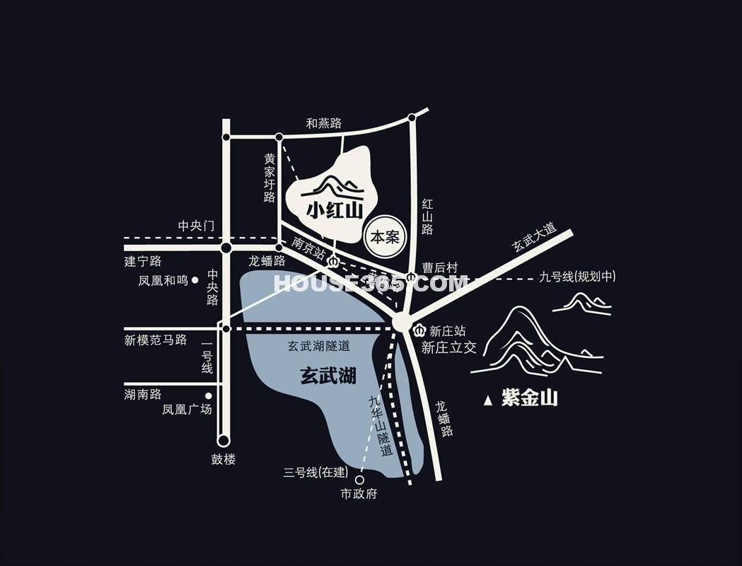 凤凰山庄交通图