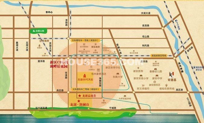 太科园龙湖星悦荟交通图