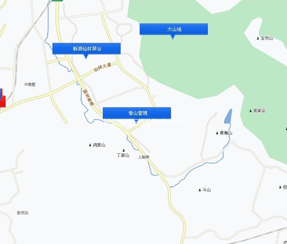 香山壹境别墅交通图
