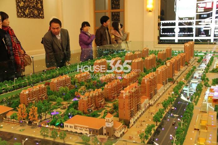 华远海蓝城整体沙盘图