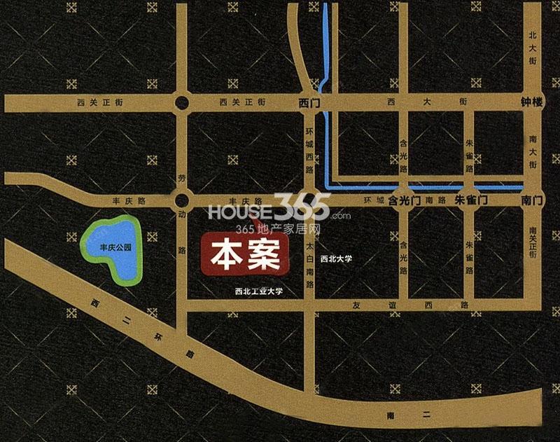景寓学府交通图