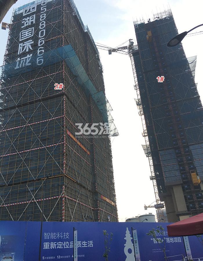 中国铁建西湖国际城高层1、2号楼施工进程(2018.4)