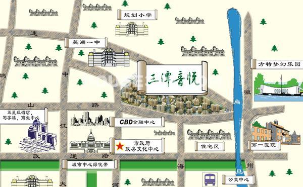 三潭音悦区位图