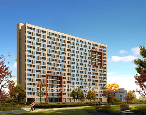 高层公寓建筑效果图