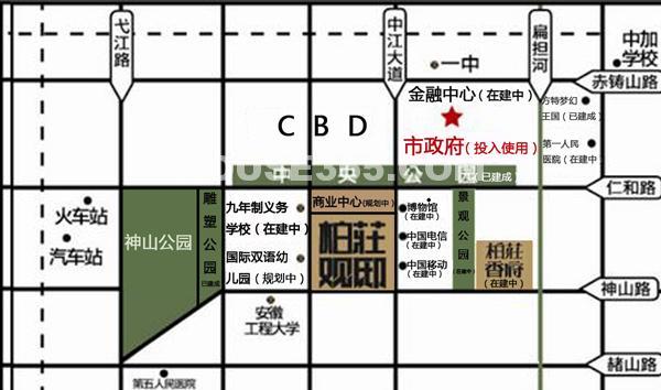 柏庄观邸交通图