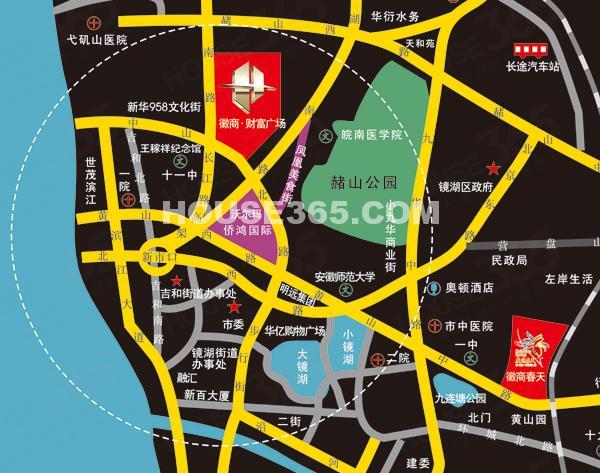 徽商财富广场交通图
