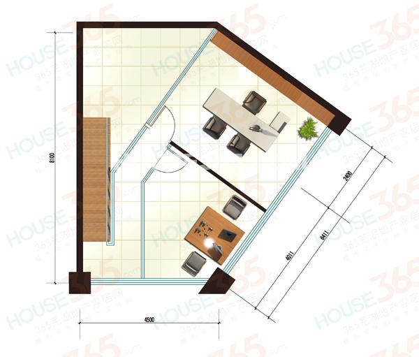 户型图(三)2层平面图