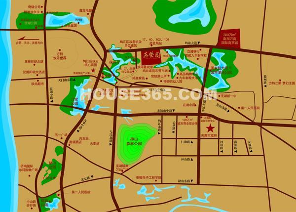 东紫园交通图