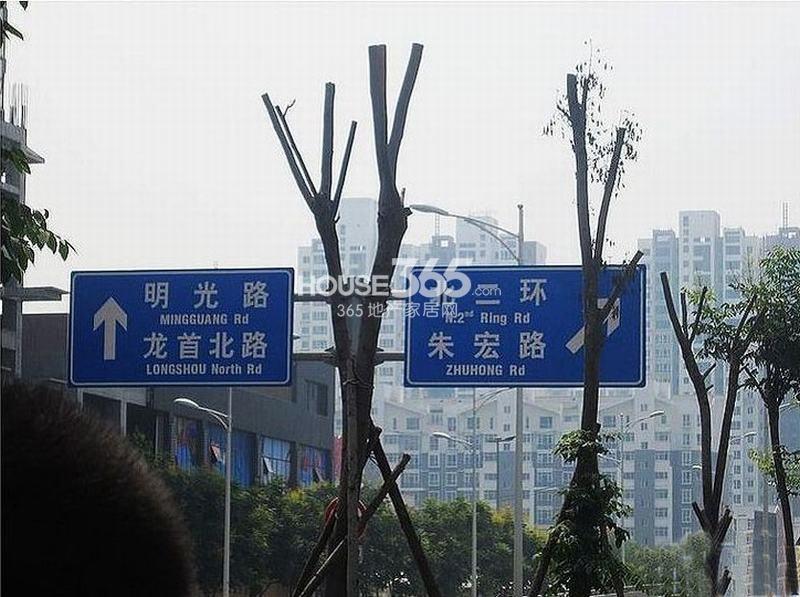 新福兴面孔公社周边路标(2013.3.14)
