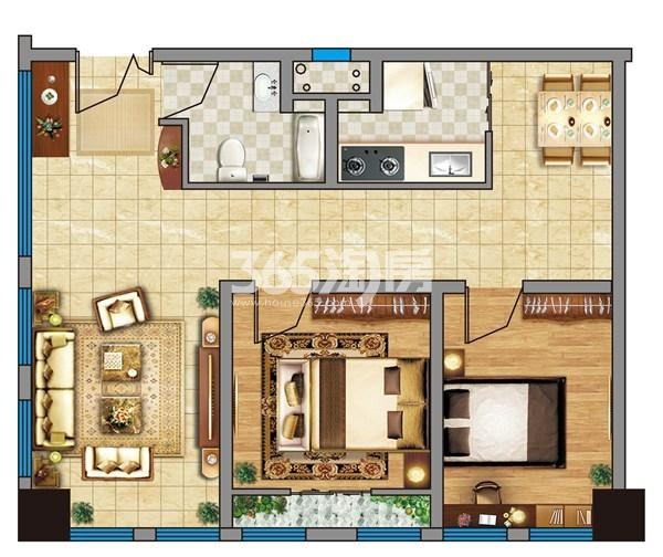 金龙湖广场B-二合一家居公寓(98平)
