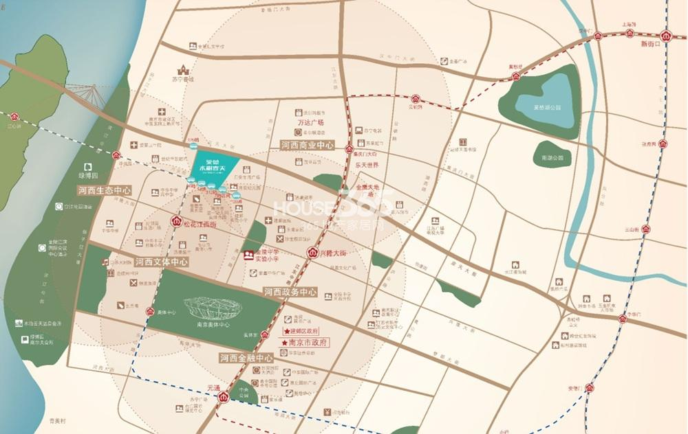 莱蒙水榭春天交通图