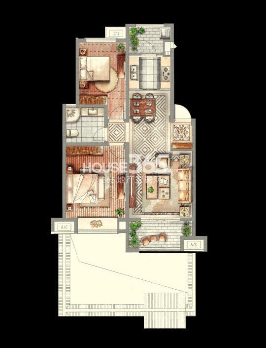 金山别墅多层 90平米2室2厅1厨2卫