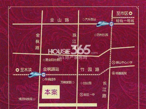 枫华广场SOHO壹公馆交通图