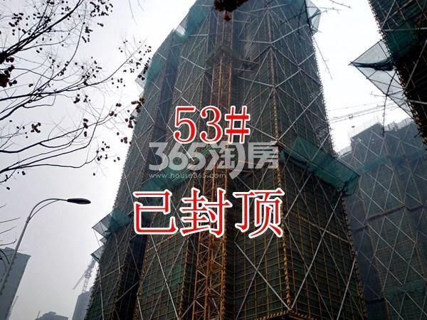 绿地工润和平壹号四期53#工地实景图(1.16)