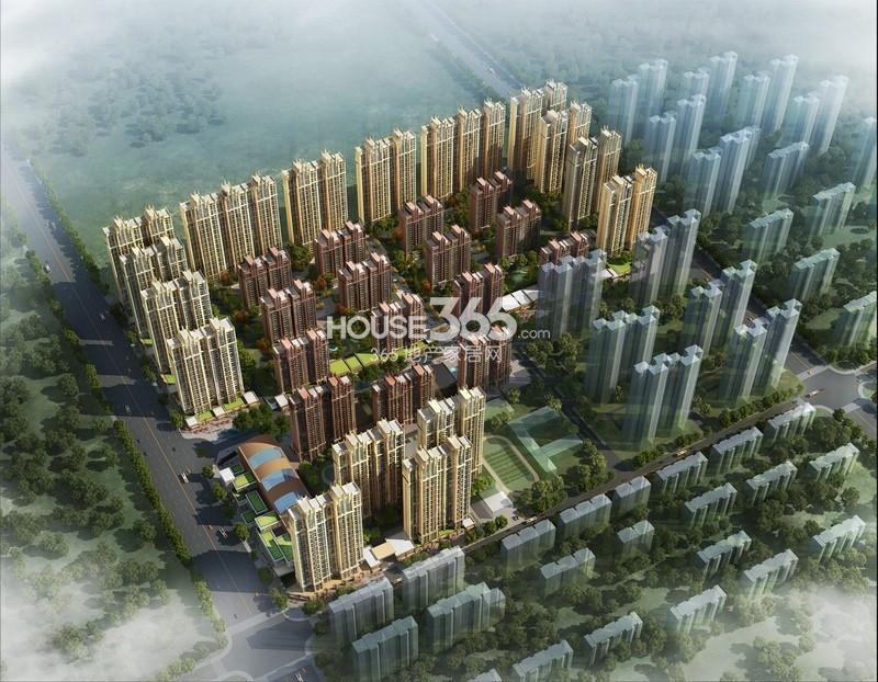 华远海蓝城鸟瞰图