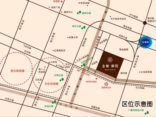 金新御园交通图