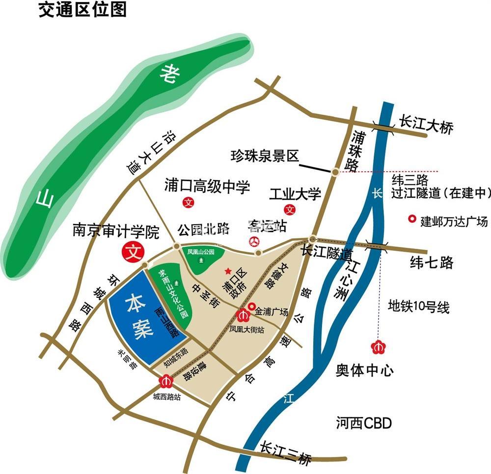 北江锦城交通图
