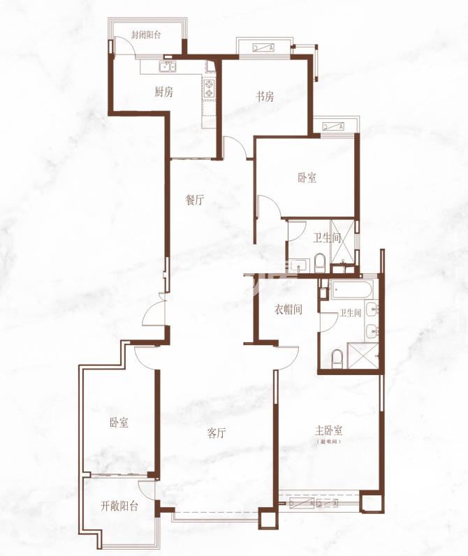 恒大悦龙台四室两厅两卫215.12㎡