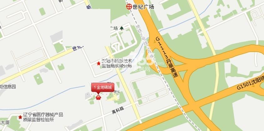 金地锦城交通图