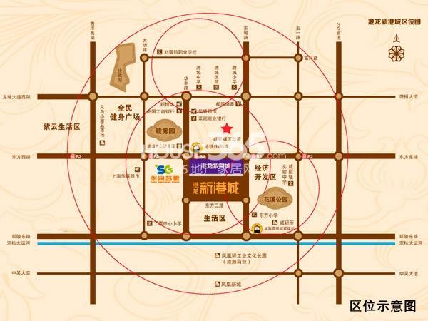 港龙新港城交通图