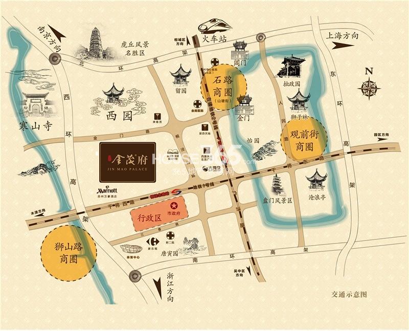 姑苏金茂府交通图