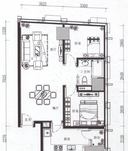 夏宫城市广场户型图