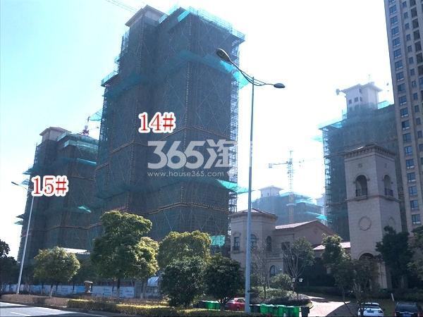 长泰国际社区南B地块14#、15#楼高层实景图(2018.3 摄)