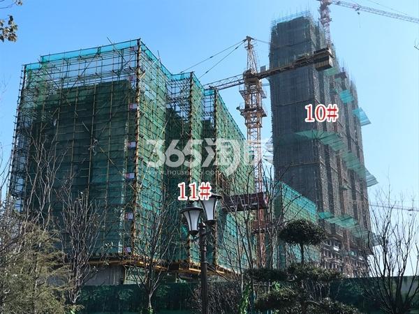 恒大御峰高层10#、11#楼实景图(2018.3 摄)