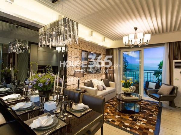 88平样板房-餐厅+客厅