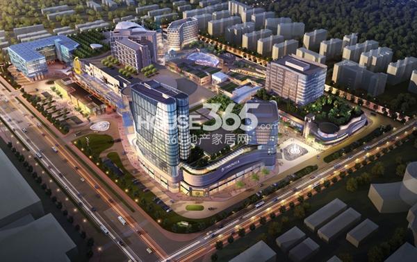 绿宝广场步行街鸟瞰图