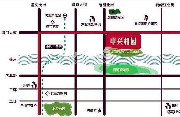 沈阳中兴和园交通图