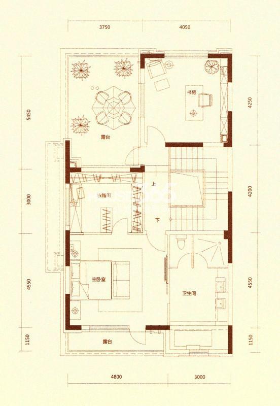 金河湾户型图 A户型397.57平米 三层