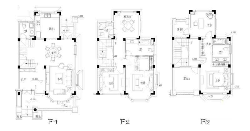 世纪天城二期3、4幢ES户型户型图 5室2厅5卫1厨 317.32㎡