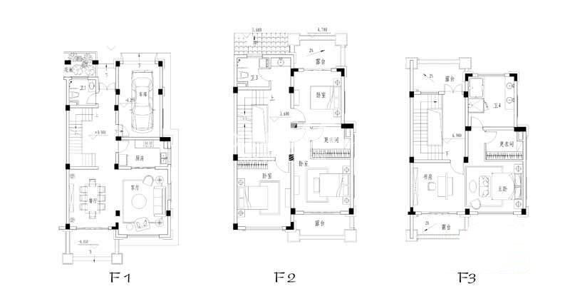 世纪天城二期G户型户型图5室2厅3卫1厨 318.14㎡