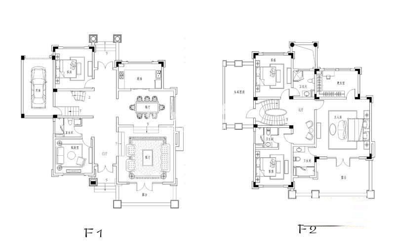 世纪天城二期5幢DN户型户型图5室2厅3卫1厨 293.91㎡