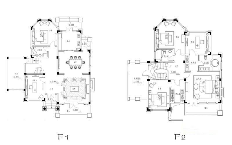 世纪天城二期10、11、12幢CS户型户型图6室2厅3卫1厨 299.47㎡