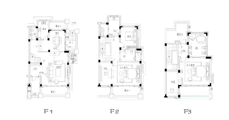 世纪天城二期FS户型户型图3室2厅4卫1厨 437.53㎡