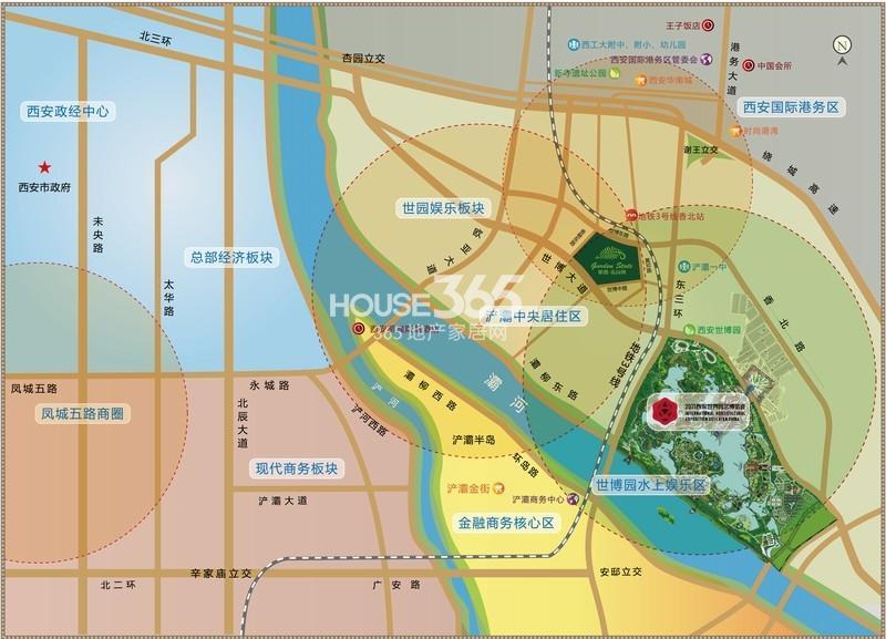 紫薇花园洲交通图